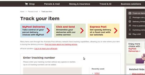 Aus Post Racking australia post tracking track and trace international