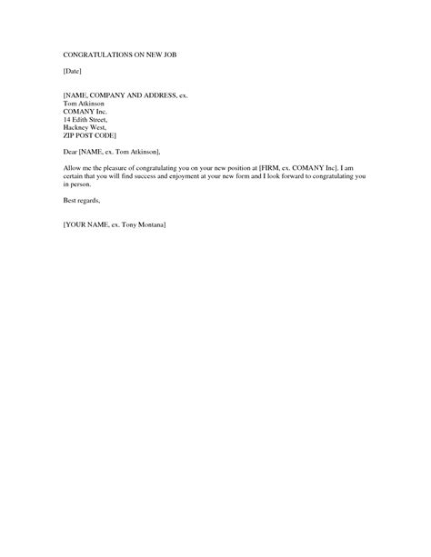 Business Letter Template Congratulations New Position best photos of letter of congratulations on new position