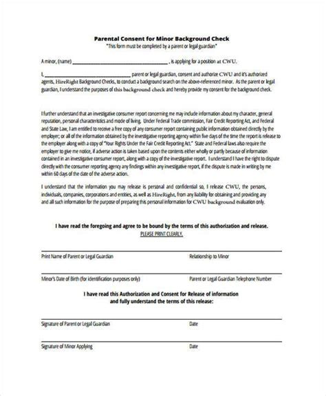 Fema Background Check Free Consent Form Sles