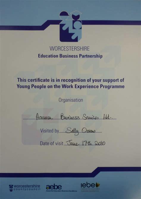 Work Experience Certificate Uk An Enlightening Work Experience