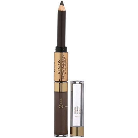 revlon brow fantasy light brown revlon brow fantasy pencil gel by colorstay dark brown