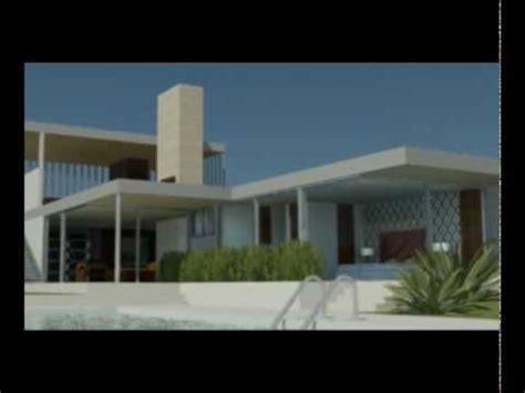 Free House Blue Prints Kaufmann Desert House 3ds Max Youtube
