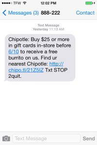 Chipotle 25 Gift Card Deal - purchase chipotle gift card get free burrito