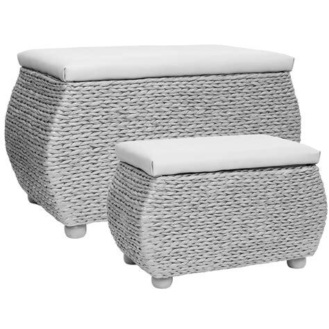 trunk bench seat hartleys twin storage trunk stool bedding blanket rattan