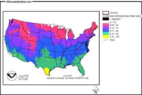 weather map usa december united states record maximum temperature for