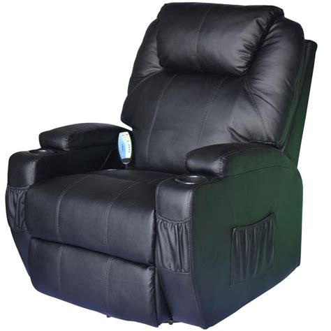 heated leather recliner homcom deluxe ergonomic heated vibrating pu leather