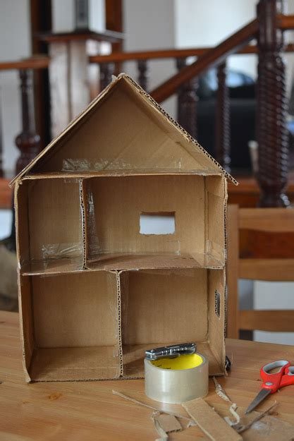 how to make a dolls house simple toys cardboard dollhouse
