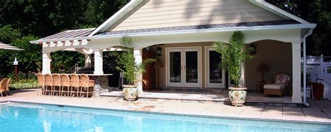 outdoor pool house designs maryland md custom design pool house installation va
