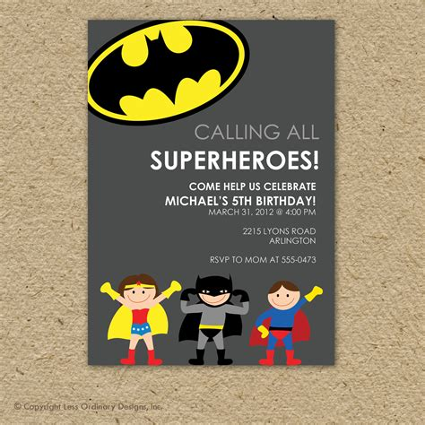 how to throw your own kids birthday parties at home momof6 batman birthday party invitations alanarasbach com