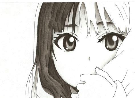 imagenes anime lapiz mi dibujo de anime al carboncillo arte taringa