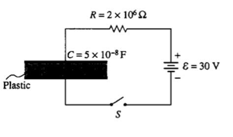 a 10 microfarad parallel plate capacitor is connected to a 12 v battery a parallel plate capacitor is made from two sheets chegg