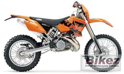 2004 Ktm 250 Exc Specs 2004 Ktm 250 Exc Specifications And Pictures