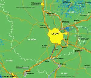 Lyon France Map by Lyon Area Map By Provence Beyond