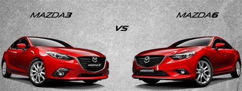 different mazda models what s the difference between the mazda3 and mazda6