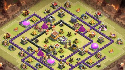 town hall 8 anti dragon war base clash of clans town hall 8 war base images