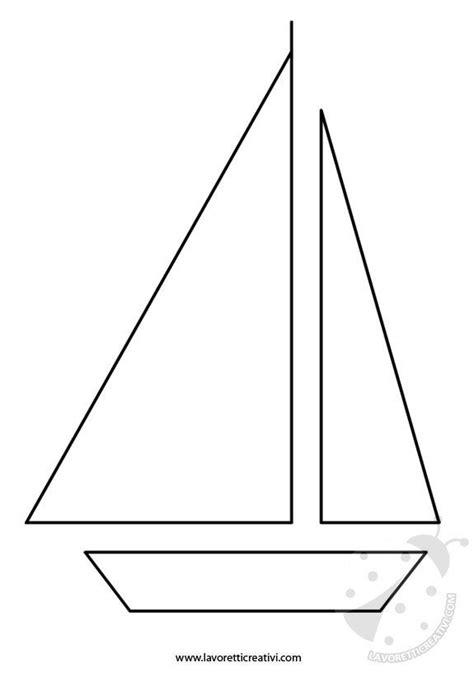 barche  vela sagome lavoretti creativi