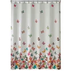 Essential home point bay lighthouse fabric shower curtain