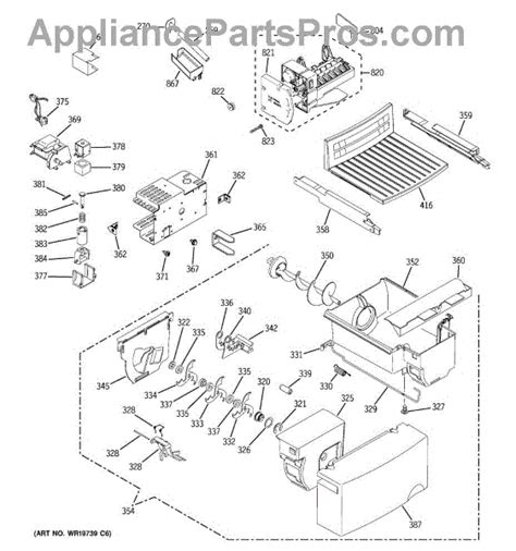 ge refrigerator maker parts diagram parts for ge gsh25jftaww maker dispenser parts