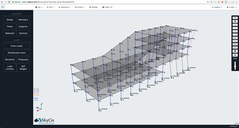 structural frame calculator skyciv