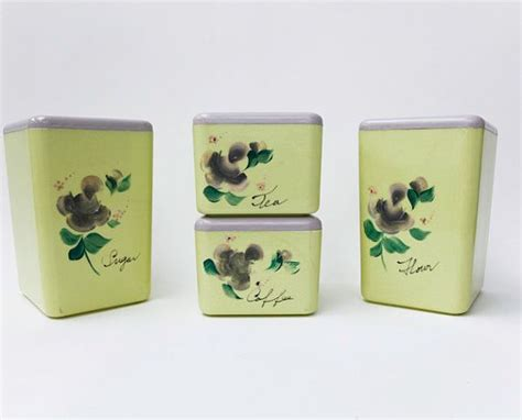 plastic kitchen canisters vintage kitchen canister set beacon plastic canisters lime green ca