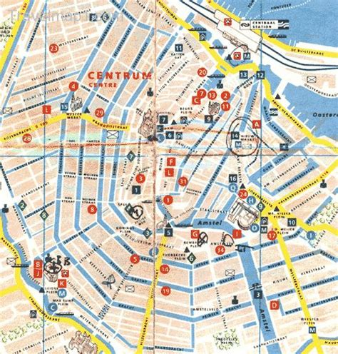 map of amsterdam map of amsterdam travelquaz