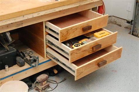 bench drawer workbench drawer storage by wunderaa lumberjocks com woodworking community