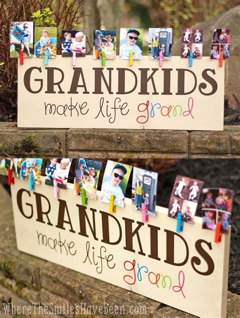 a handbook for grandparents 700 creative things to do and make with your grandchild books colorful grandkids make grand wood sign photo display