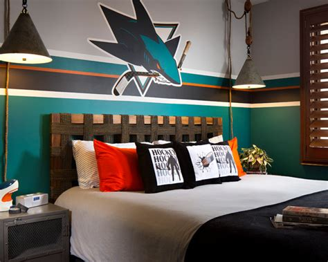 Hockey Wall Mural hockey room ideas design dazzle