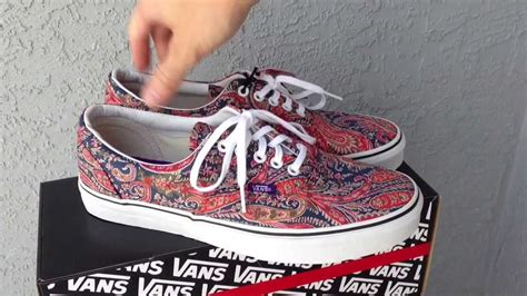 paisley pattern vans vans liberty era paisley sneaker review and on feet