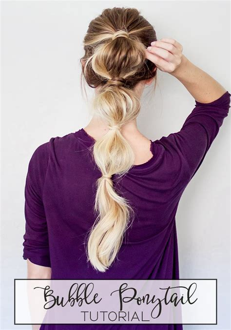 hairstyles with bubble top and back how to easy bubble ponytail hairstyle luxy hair