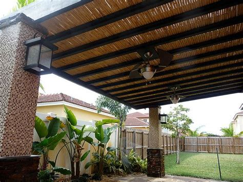 outdoor fans for pergolas best ideas about bamboo terrace pergola bamboo and