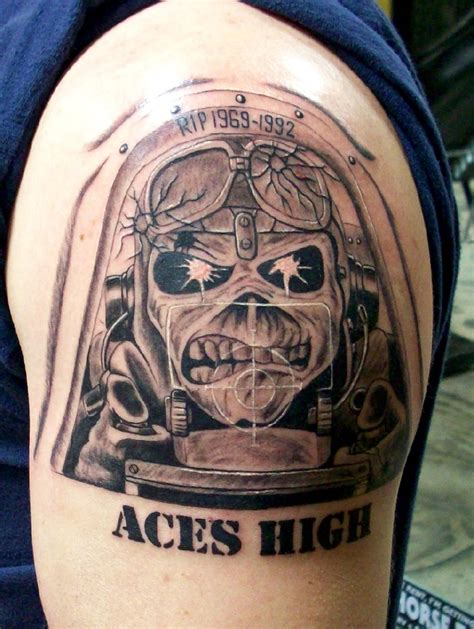 aces high tattoo pin by tito doederlein on eddie