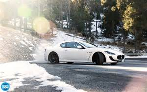 Maserati Granturismo Top Gear Snow Trees Forest Top Gear Photography Maserati Drift