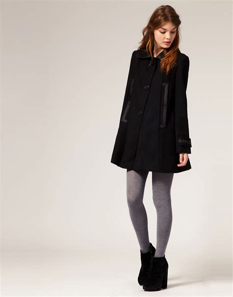 swing coat definition asos asos 60s swing coat at asos