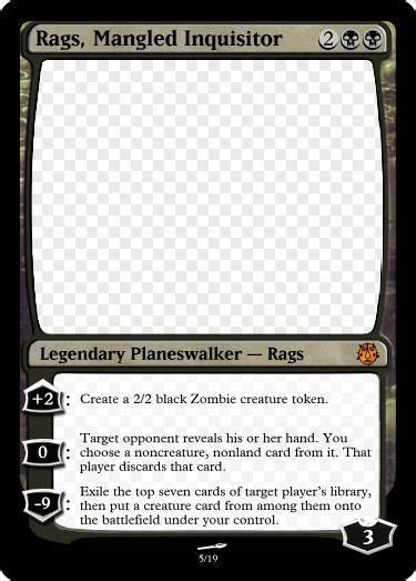 arena of the planeswalkers colorless card template new custom set preview djibon mtg amino