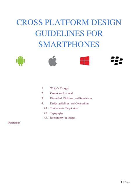 design guidelines c cross platform design guidelines for smartphones