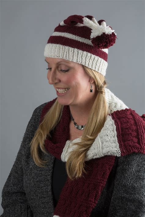 knitting patterns scarves hats collegiate hat and scarf free knitting pattern download