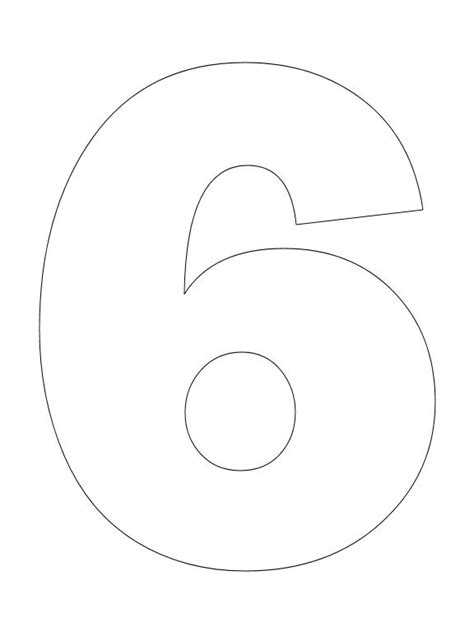 coloring page number 6 number pictures to color creative