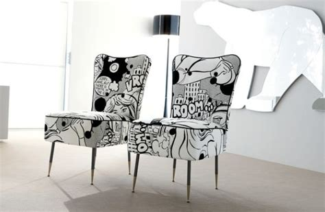 Black And White Upholstered Chair Design Ideas Comic Decor Inspirations For The Contemporary Home