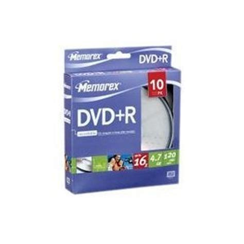 memorex dvd inserts template buy memorex dvd r 16x 4 7gb pack of 10 from 163 2