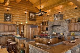 Log Home Kitchen Design Amazing Kitchens Design With Rustic Elements Home Design
