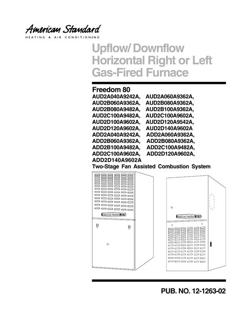 american standard freedom 90 thermostat wiring diagram