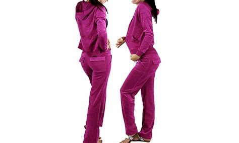 Matching Zip Up Jacket s velour tracksuit zip up hooded jacket and matching
