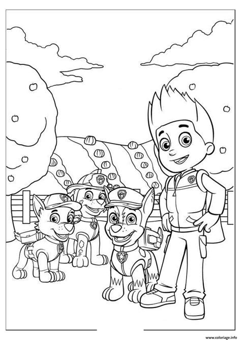 ryder s birthday coloring page free printable coloring pages coloriage pat patrouille 4 dessin