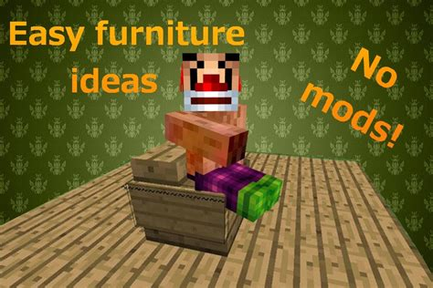 Easy Modern Furniture Ideas For Minecraft Xbox Pc Easy To Make Furniture Ideas