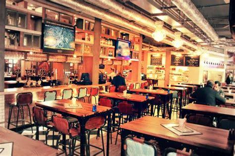 main entrance open kitchen picture  sports bar