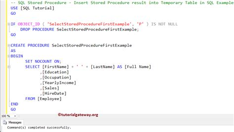 insert into temp from stored procedure how to insert stored procedure result into temporary