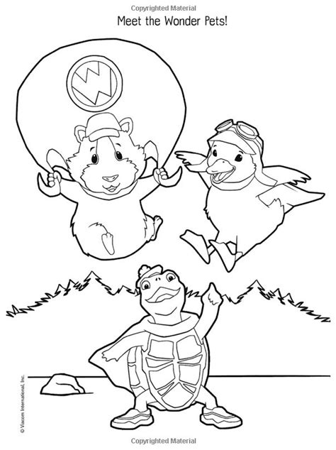coloring pages wonder pets wonder pets images az coloring pages