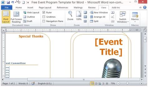 program invitation template music event program invitation