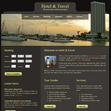 hotel free website templates in css html js format for
